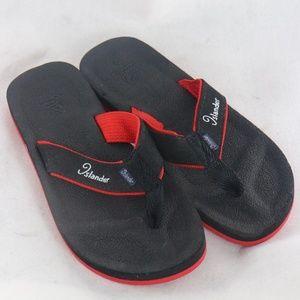 New ISLANDER Kaypee Black/Red Flip Flp Sandals